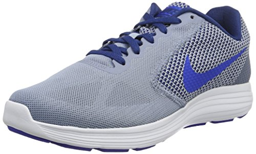 Nike Revolution 3, Scarpe Running Uomo Blu (Cool Blue/Hyper Cobalt/Coastal Blue/White)