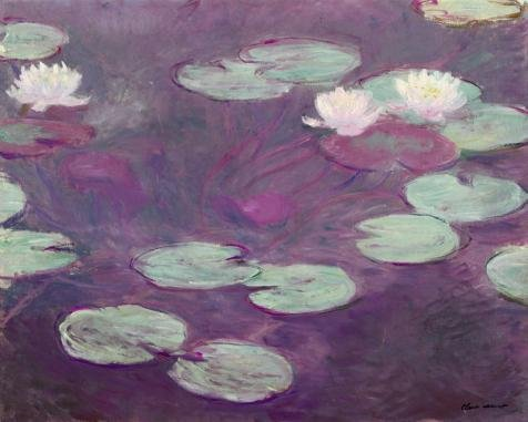 Oil Painting 'Claude Monet ,Water Lilies', 12 x 15 inch / 30 x 38 cm , on High Definition HD canvas prints is for Gifts And Basement, Gym And Hallway Decoration, transfer print