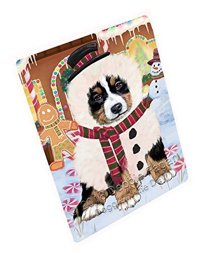 Doggie of the Day Christmas Gingerbread House Candyfest Bernese Mountain Dog Blanket BLNKT125040 (60x80 Fleece)