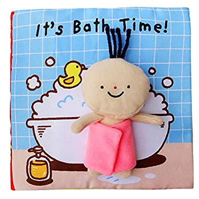 Xiaoyu Soft Books for Newborn Babies, Soft Activity Baby Book, Educational Toy for Boy & Girl, Touch and Feel Activity, Bedtime Story, Bath : Baby