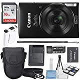 Cheap Canon PowerShot ELPH 190 IS Digital Camera (Black) with 10x Optical Zoom and Built-In Wi-Fi with 16GB SDHC + Replacement battery + Protective camera case Along with Deluxe Cleaning Bundle