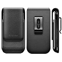 Stronden Samsung Galaxy S10, S9 Holster, Vertical Leather Holster Case with Belt Clip [Magnetic Closure] Pouch w/Built in ID Card Holder (Fits Phone w/Otterbox Commuter/Symmetry Case on)