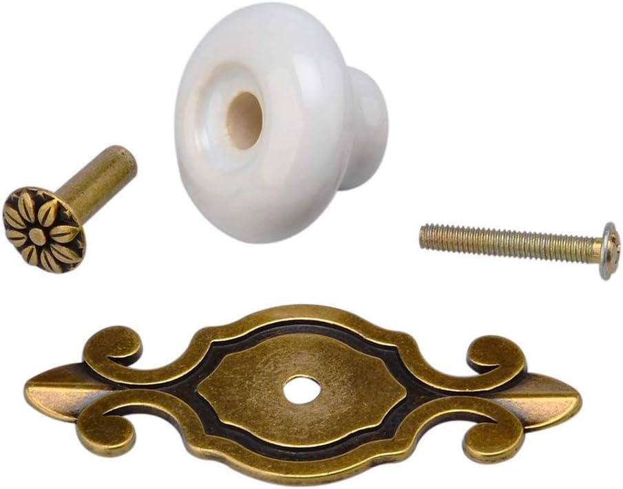 HITECHLIFE 2pz Pomelli Per Porte in Ceramica Pomelli Per Cassetti Vintage Maniglioni Per Maniglie Per Armadio Com/ò Armadio Armadio Armadio Porta Cucina Cucina