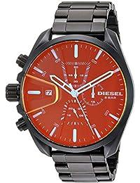 Men's 'MS9 Chrono' Quartz Stainless-Steel-Plated Watch, Color:Black (Model: DZ4489)