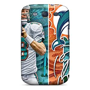 Scratch Resistant Cell-phone Hard Covers For Samsung Galaxy S3 With Customized Stylish Miami Dolphins Skin ColtonMorrill