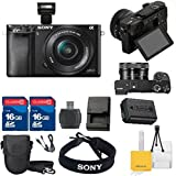 Sony Professional Digital Point & Shoot Camera Kit With Sony ALPHA A6000 + Original Sony Accessories + 32GB Memory + Digital Camera Pouch + Cleaning Kit With Mini Tripod