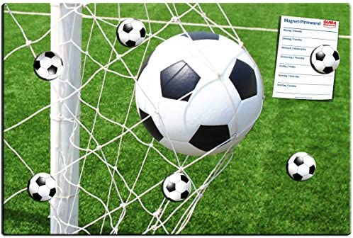 Fútbol – Fácil Diseño Metal Pizarra magnética – Tablón Memo ...