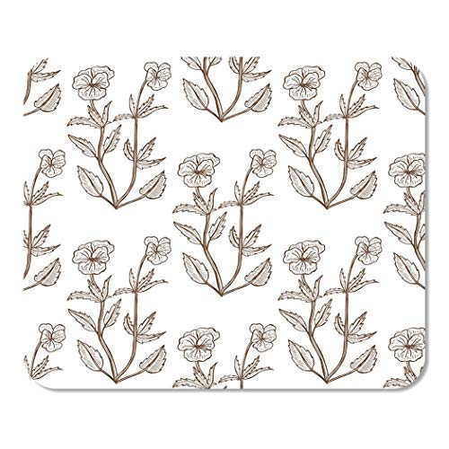 (Suike Mousepad Computer Notepad Office Antiseptic Viola Tricolor Pattern Graphic for of Medicinal Plant Home School Game Player Computer Worker 9.5x7.9 Inch)