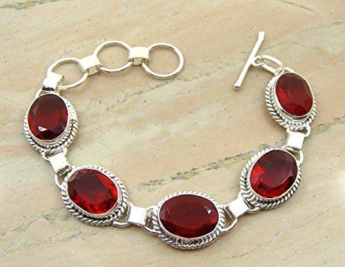 1150gms780-ctw-genuine-garnet-quartz-925-sterling-silver-overlay-handmade-fashion-bracelet-jewelry