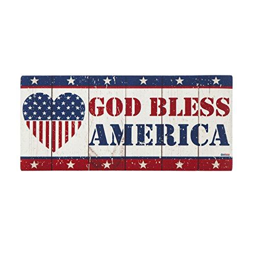 Evergreen God Bless America Sassafrass Decorative Mat Insert, 10 x 22 inches