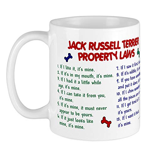 CafePress Jack Russell Terrier Property Laws Mug Unique Coffee Mug, Coffee Cup