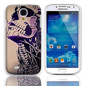 JJE Smoking Skull Design Hard Case with 3-Pack Screen Protectors for Samsung Galaxy S4 I9500