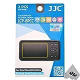 JW LCP-BPCC 2PCS Hard LCD Guard Film Screen Protector For Blackmagic Design Blackmagic Pocket Cinema Camera + JW emall Micro Fiber Cleaning Cloth