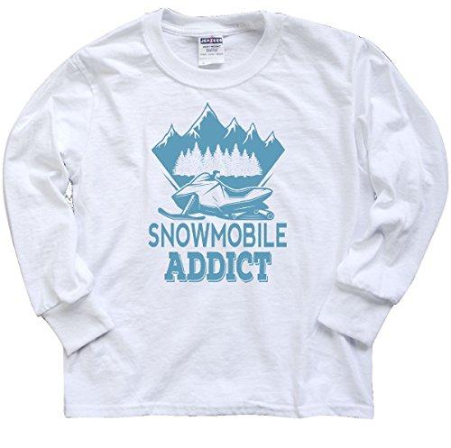 inktastic Snowmobile Addict Youth Long Sleeve T-Shirt Youth Medium White 2e4db