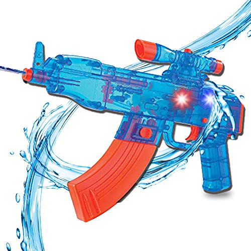 (Liberty Imports Battery Operated Motorized Automatic Electric Super Water Gun Soaker Blaster (Blue)