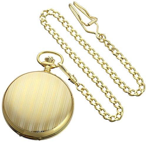 Charles-Hubert-Paris-3973-G-Classic-Collection-Analog-Display-Mechanical-Hand-Wind-Pocket-Watch