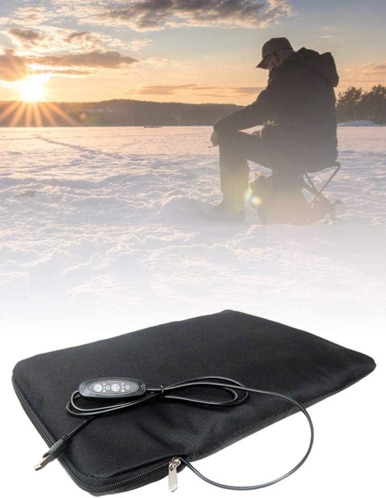 Liery Heizkissen USB Automatic Inflatable Car Beheizte Sitzkissen F/ür Den Winter Outdoor Fishing Ski Sitzheizung