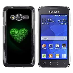 Smartphone Rígido Protección única Imagen Carcasa Funda Tapa Skin Case Para Samsung Galaxy Ace 4 G313 SM-G313F Green Heart / STRONG