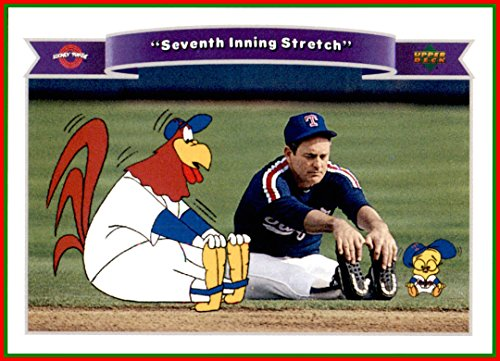 - 1991 Looney Tunes Upper Deck Comic Ball #190 Nolan Ryan HOF Texas Rangers Foghorn Leghorn