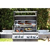 Napoleon LEX485RSIBNSS-1 Rear Burners Natural Gas Grill with Infrared Side