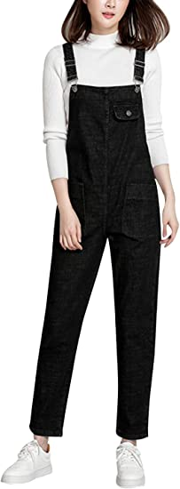 Yeokou Women S Casual Denim Bib Cropped Overalls Pant Jeans Jumpsuits Amazon Ca Clothing Accessories