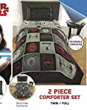 Star Wars Episode 8 The Last Jedi 6pc Full Comforter, Sheet Set, Activity Book Bedding Collection