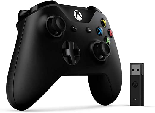 Microsoft 4N7-00003 mando y Adaptador inalámbrico para windows 10 Gamepad PC,Xbox One Negro - Mando (Gamepad, PC,Xbox One, D-pad, Hogar, Menu, Inalámbrico, Negro): Amazon.es: Videojuegos