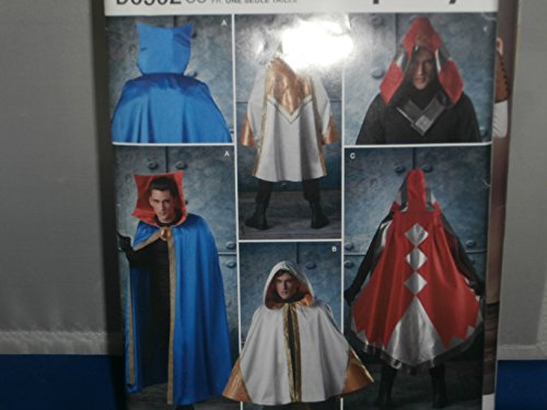 Simplicity Sewing Pattern D0502 Cosplay Adult Costume Capes Tabards