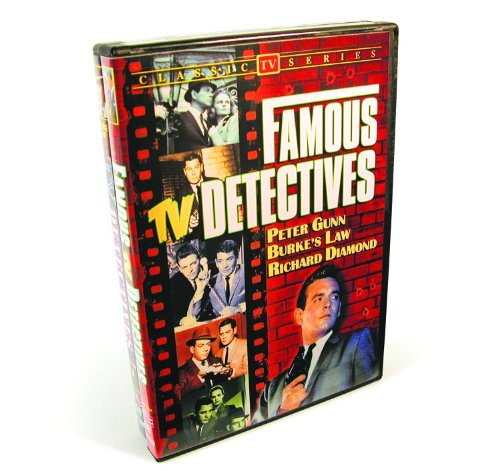 Famous TV Detectives Collection (Peter Gunn / Burke's Law / Richard Diamond / The Lone Wolf / I Am The Law / Treasury Men In Action / Checkmate / Homicide Squad) (2-DVD) by Alpha Video
