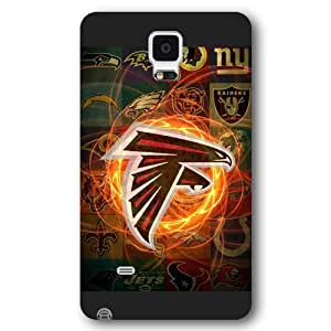 Onelee Customized NFL Series Case for Samsung Galaxy Note 4, NFL Team Atlanta Falcons Logo Samsung Galaxy Note 4 Case, Only Fit for Samsung Galaxy Note 4 (Black Frosted Shell)