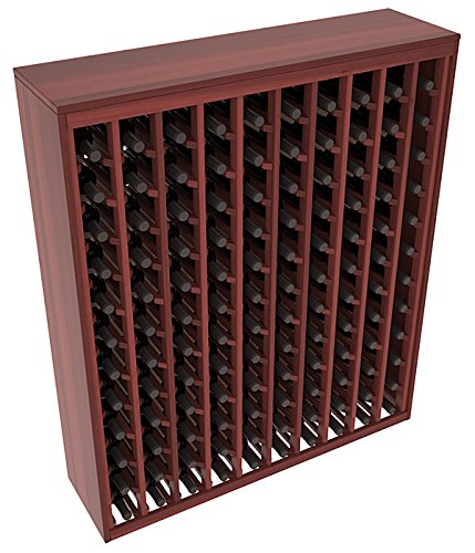 (Wine Racks America Redwood 120 Bottle Deluxe. Cherry Stain + Satin)