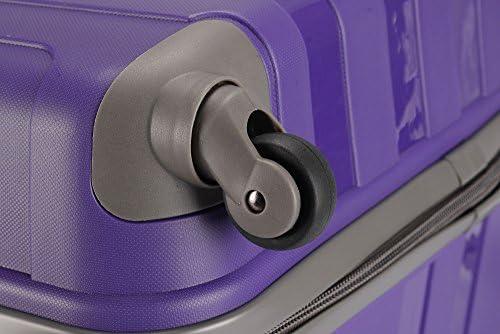 XL grande medio peque/ño y ligero maleta equipaje bolsa de viaje CABINA Morado morado 26 Medium