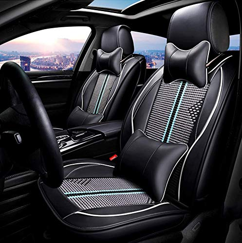 Wsjfc PU Leather Ice-Silk Car Seat Cover- Anti-Slip Suede Backing Universal Fit Car Seat Cushion for Both Fabric And Leather Car Seats,Green,Green: Amazon.co.uk: Sports & Outdoors