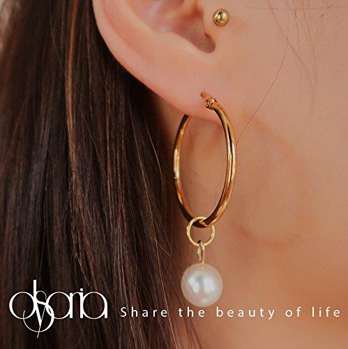 usongs gold pearl ear rings retro minimalist style antique earrings (Antique Style Pearl Ring)