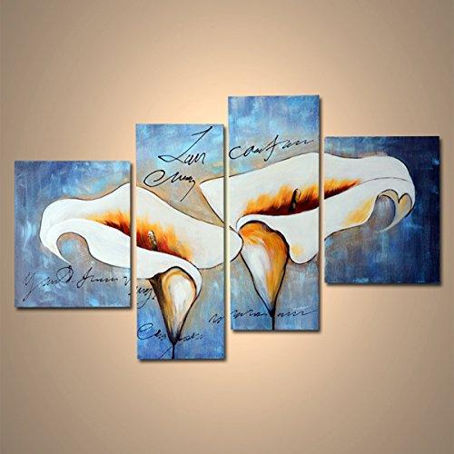 【モダン油絵工房】 油絵 現代絵画 手書きモダン油絵 ナチュラルライン ユリA 2FAE-26 40×60cm 30×90cm B01N7SQYZI ユリA ユリA
