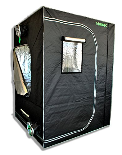 Matrix Horticulture 60''x60''x80'' Grow Tent Diamond Mylar 600D Hydroponic Growing Room Box for Indoor Plants Observation Window Arch Door D Design 5x5 by Matrix