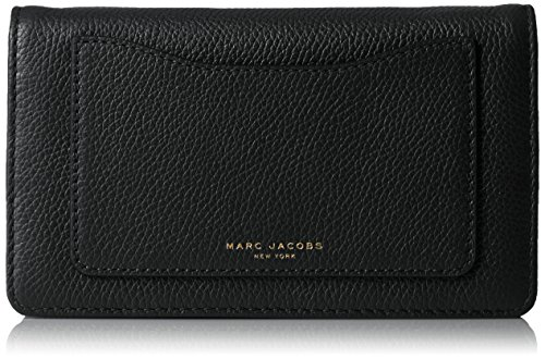 Marc Jacobs Recruit Wallet on Leather Strap, Black ()