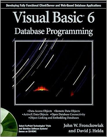 Visual Basic6 Database Programming: 0785555532540: Computer