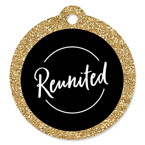Reunited - School Class Reunion Party Favor Gift Tags (Set of -
