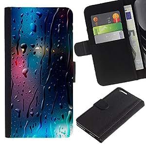 A-type Arte & diseño plástico duro Fundas Cover Cubre Hard Case Cover para iPhone 5 / 5S (Glass Reflective Lights Blur Night City)