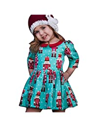 Toddler Kids Baby Girls Cartoon Princess Party Dress Christmas Outfits by XILALU