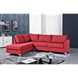 NHI Express Landon Reversible Sectional Sofa, Red