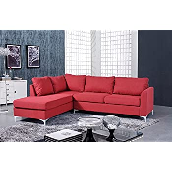 Cool Nhi Express Landon Reversible Sectional Sofa Red Ibusinesslaw Wood Chair Design Ideas Ibusinesslaworg