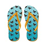 CafePress Flat Coated Retriever Pattern - Flip Flops, Funny Thong Sandals, Beach Sandals