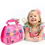 Cheap4uk Pretend & Play Makeup Set, 17in1 Princess Makeup Set Kids Toy Cosmetic Pretend Play Kit for Little Girls