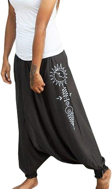 Hongxin Mujer Tallas Grandes Bombachos Hipsters Pantalon Harem Etnico Estampado Casual Pantalones Holgados Gris S M L Xl Xxl Xxxl Amazon Es Ropa Y Accesorios