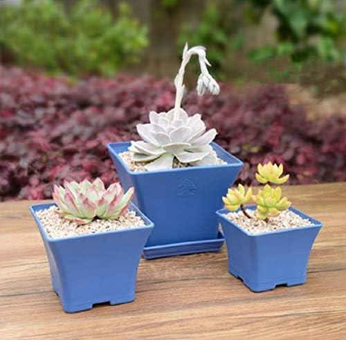 スペインの青い厚いプラスチックの正方形の洗面器 (M)