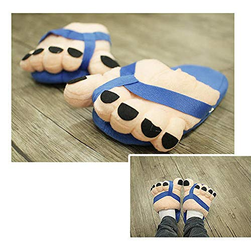 Fines À Outdoor nn Rawdah Cotton Indoor En Antidérapants Shoes Anti Drag Slippers Rayures Modè Chaussons Bleu Skid Coton Couple Slip House Women's Maison qaqzS8