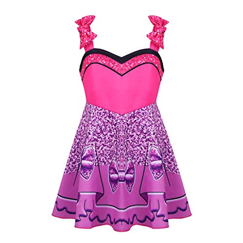 FEESHOW Girls Kids LOL Doll Surprise Princess Fancy Dress Halloween Cosplay Costumes Party Outfit Rose Bow-knot -