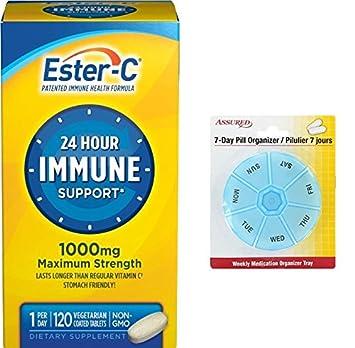 Ester-C vitamina C, 1000 mg, 120 tabletas recubiertas con gratis 7 días